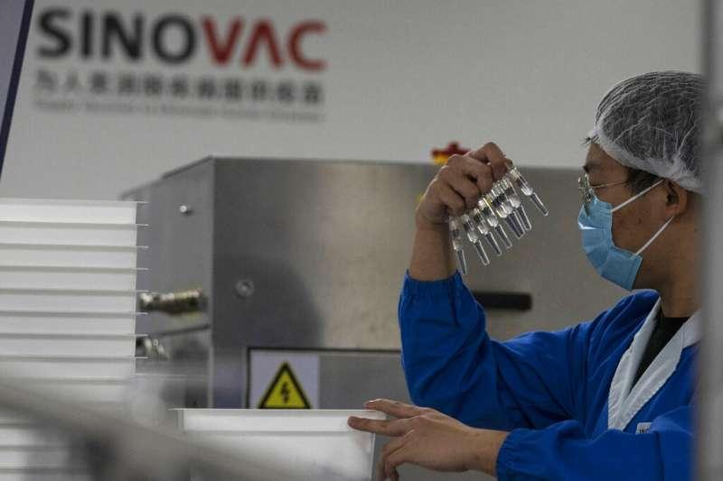 中國科興生技公司研發的新冠肺炎疫苗。(美聯社)