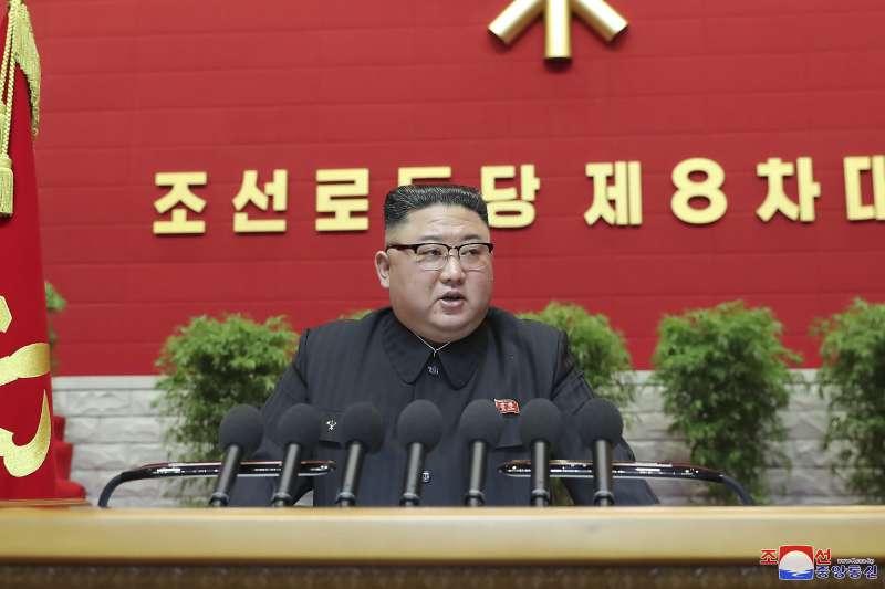 2020年1月6日,金正恩罕見在勞動黨大會上道歉,稱北韓經濟發展不如預期。(AP)