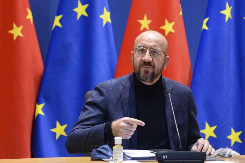 中歐協議的簽署必須等待歐盟理事會主席米歇爾獲得授權指定人選。(美聯社)