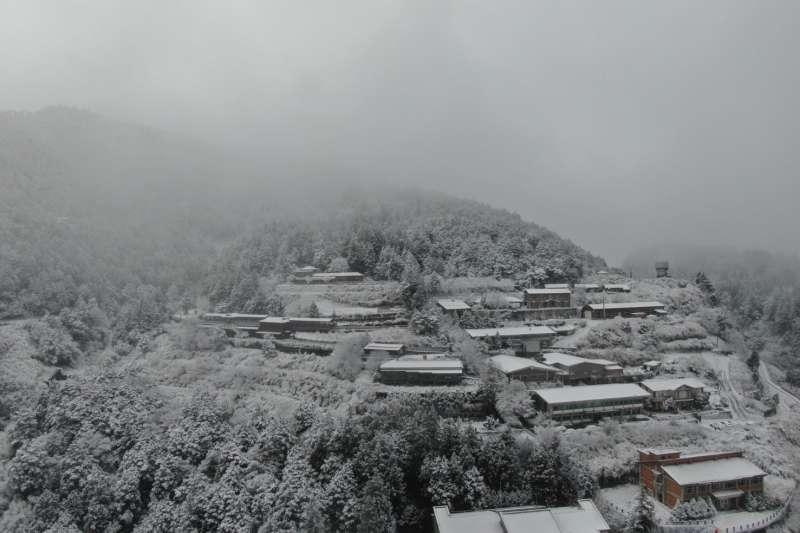 太平山下雪了(圖/取自太平山國家森林遊樂區 粉專)