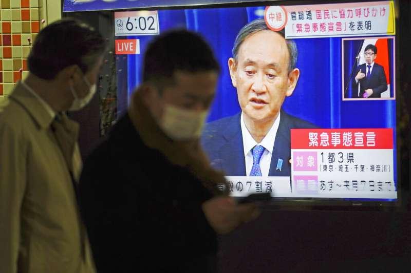 日本疫情持續升溫,近日甚至傳出緊急事態宣言有可能再延長的消息。(美聯社)
