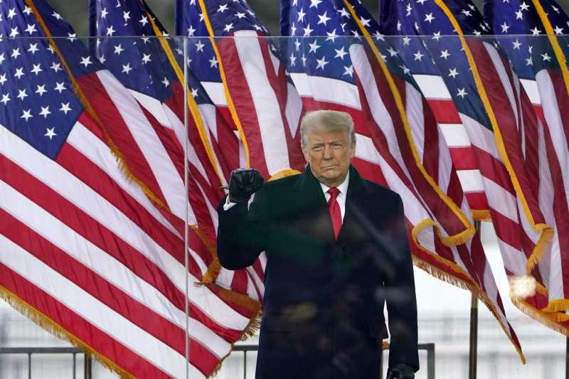 2021年1月6日,川普在華府舉辦「搶救美國大會」。(AP)