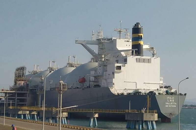這次貨氣抵台除代表台灣中油與美國能源公司開啟長期合作,也為台灣拓展LNG進口來源締造新的里程碑。(台灣中油提供)