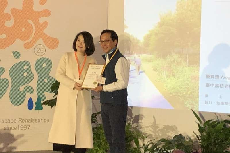 中市「荔枝森林」及「中央公園」獲台灣景觀大獎。(圖/台中市政府)