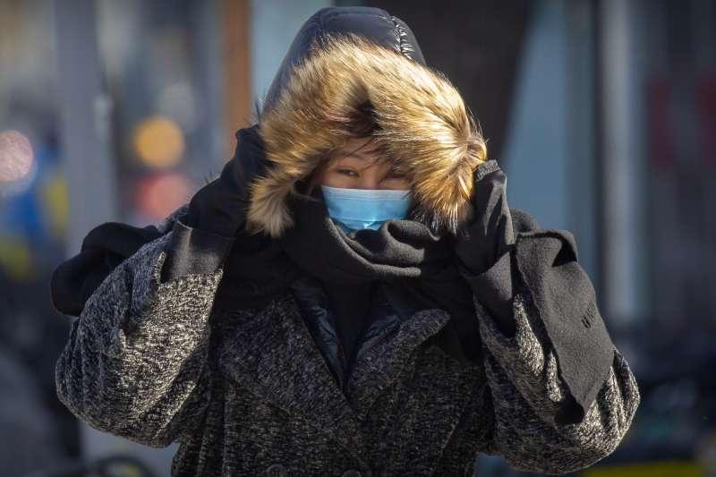 中國新冠肺炎疫情、北京、口罩。(AP)