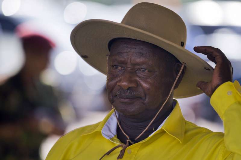 2021年烏干達總統大選1月14日登場,76歲強人穆塞韋尼(Yoweri Museveni)掌權逾30年,是非洲「萬年總統俱樂部」成員。(AP)