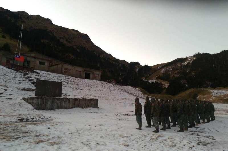 20210114-位於合歡山、海拔高度3110公尺的陸軍航特部特訓中心「武嶺營區」,是國軍執行雪地、高寒地作戰和救難訓練的重鎮,也是除海、空軍高山雷達站,最有機會碰到下雪的營區。(取自中華民國陸軍臉書)