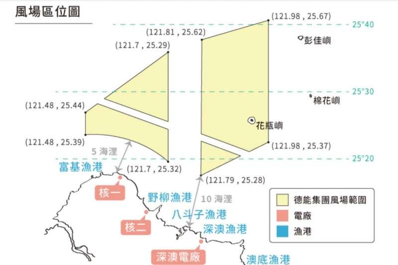 20210118-有廠商意圖在北方三島漁場開發風電場址。(洪申翰國會辦公室提供)
