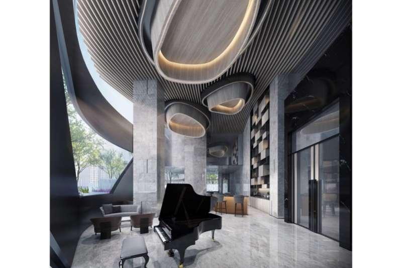 「大通大美」一樓公設-PIANO BAR3D示意圖。(圖/富比士地產王提供)
