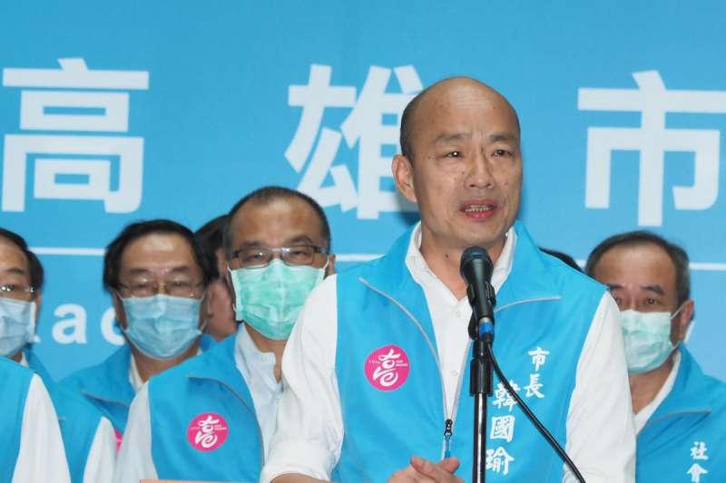 高雄市前市長韓國瑜(見圖)會以何種形式復出,引發外界討論。(資料照,柯承惠攝)