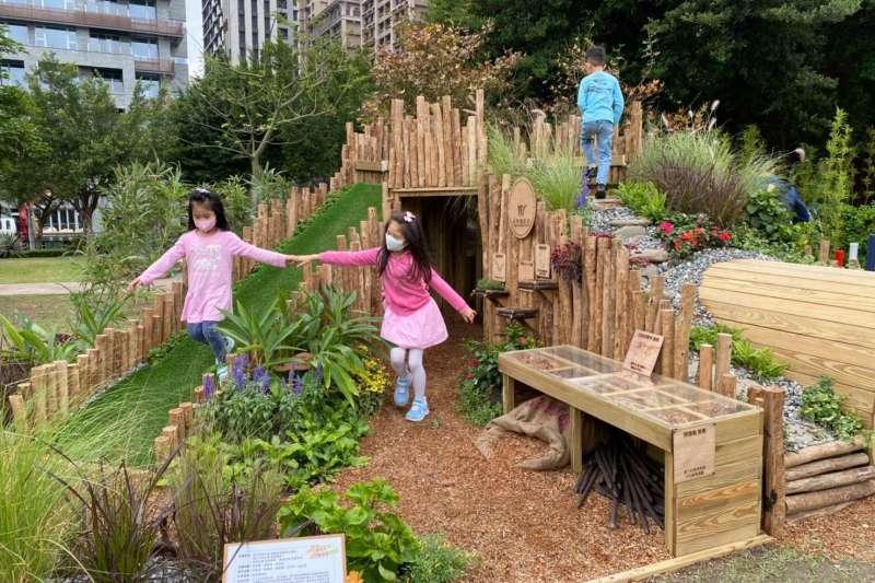 全國青年景觀競賽地1名作品-自然補給站。(圖/新北市景觀處提供)