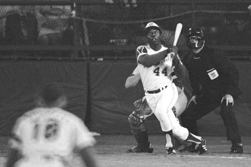 美國棒球界傳奇巨星漢克.阿倫(Hank Aaron)(AP)