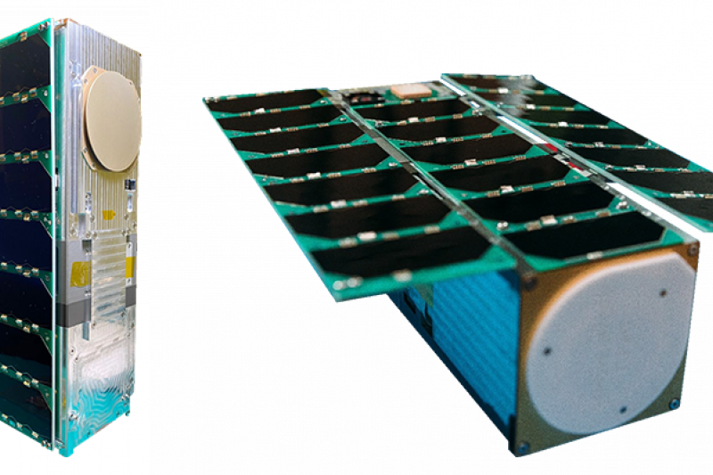 由國立中央大學研製的立方衛星「飛鼠」(見圖),以及騰暉等公司研製的「玉山」將延後至23日晚乘Space X火箭升空。(取自國家太空中心網站)