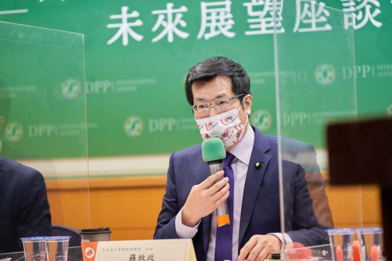 20210124-民進黨24日上午舉行「拜登新政府與台美關係未來展望」座談會。圖為民進黨國際事務部主任羅致政。(民進黨提供)