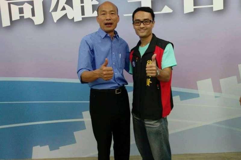 頻頻上媒體曝光的罷捷總部發言人徐尚賢,被發現具有黃復興系統的黃國山黨部黨代表的身分。(讀者提供)