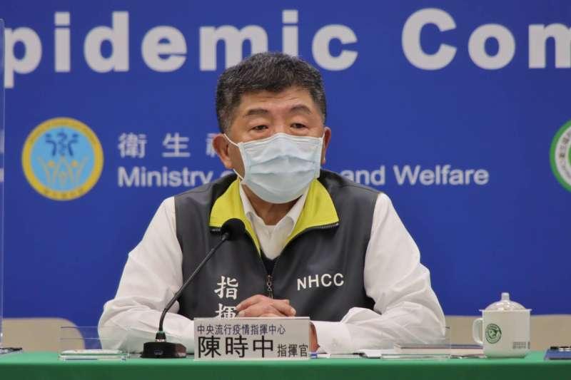 中央流行疫情指揮中心指揮官陳時中(見圖)宣布,國內27日新增3例新冠肺炎確診病例。(資料照,中央流行疫情指揮中心提供)