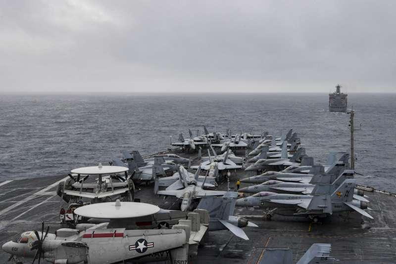 美軍羅斯福號航空母艦在拜登上任後巡弋南海。(美國海軍官網)