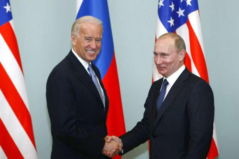 美俄關係。美國總統拜登與俄羅斯總統普京。(美聯社)