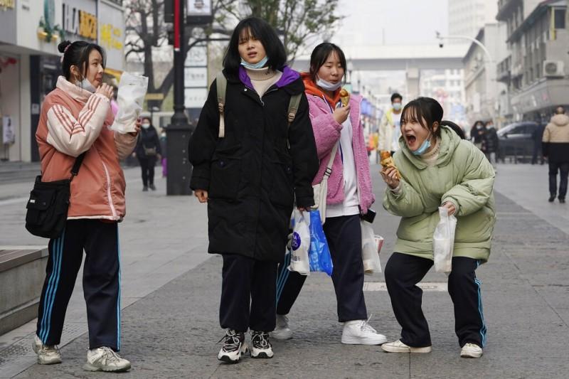 「習世代」中國年輕人、中國女性、中國年輕女性、中國學生。(AP)