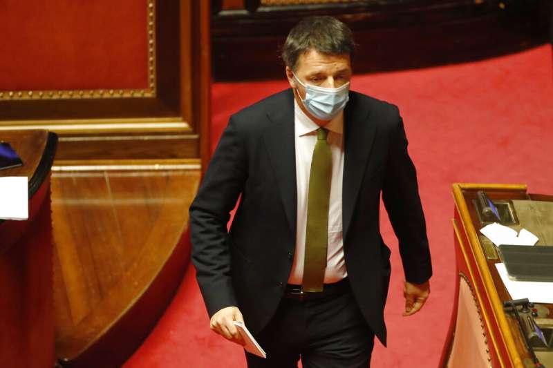 義大利前總理、活力黨領袖倫齊退出孔蒂領導的聯合內閣。(AP)