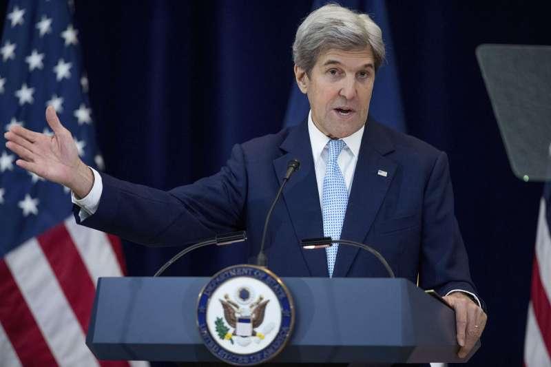 拜登政府氣候特使,前美國國務卿凱瑞周三訪中。(美聯社)