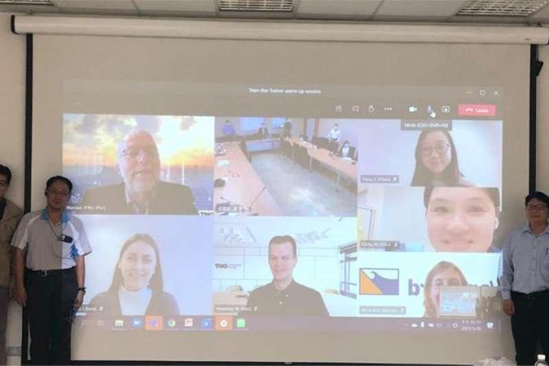 「台荷離岸風電人才培育合作計畫」線上啟動研討會。(圖/金屬中心提供)