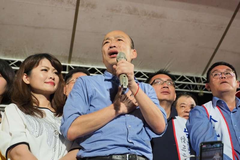 「罷韓四君子」之一的尹立表示,齊心抗疫更要嚴防變種韓流,持續的撕裂、分化台灣。圖為高雄市前市長韓國瑜。(資料照,林瑞慶攝)