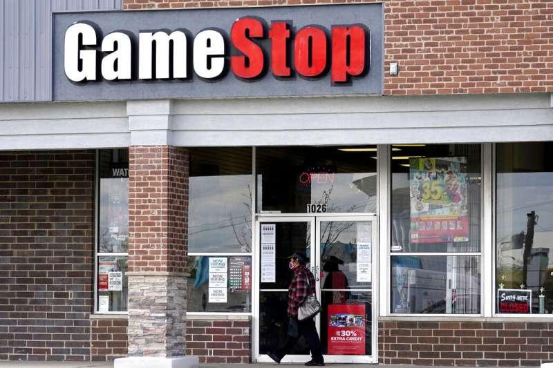 美國影音遊戲銷售商GameStop成為華爾街交投最活躍的個股之一。(AP)