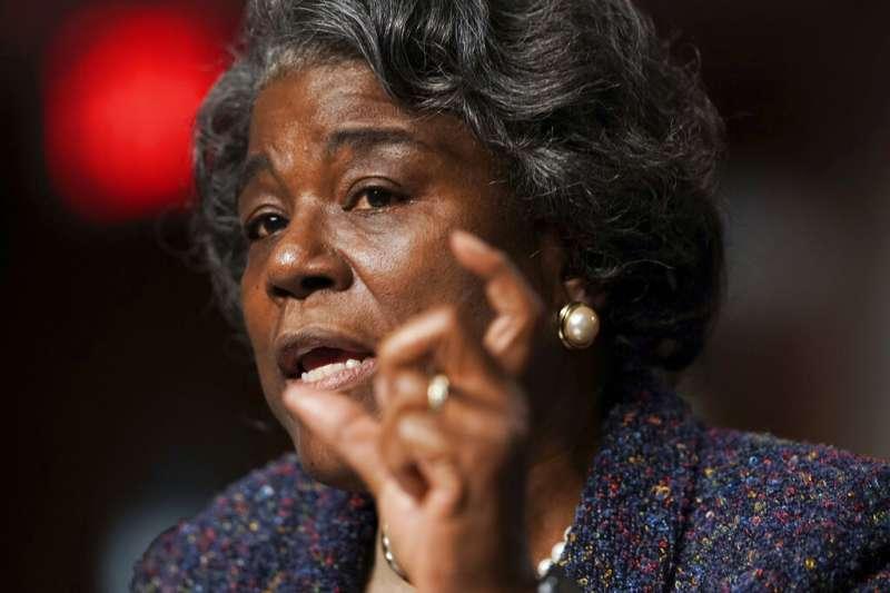 拜登提名的美國駐聯合國大使湯瑪斯─格林菲爾德(Linda Thomas-Greenfield)。(美聯社)