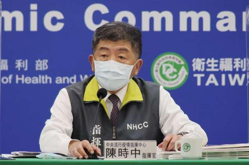 中央流行疫情指揮中心指揮官陳時中宣布,新冠肺炎本土病例今日掛零,且境內境外都沒有確診案例。(資料照,中央流行疫情指揮中心提供)