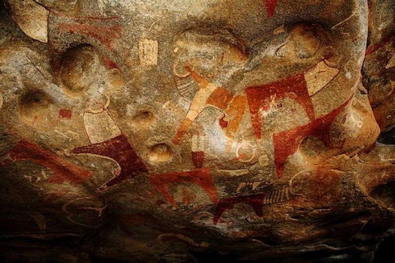 索馬利蘭首都哈爾格薩郊區游牧地帶的拉斯吉爾(Laas Geel)岩洞壁畫群。(Abdullah Geelah @Wikipedia/CC BY-SA 3.0)