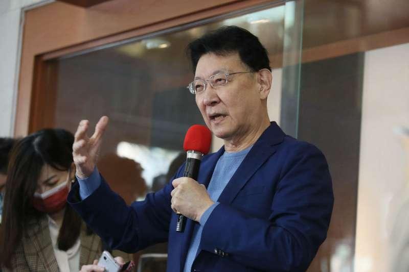 中廣董事長趙少康宣布重回國民黨,表明競選黨主席。(柯承惠攝)