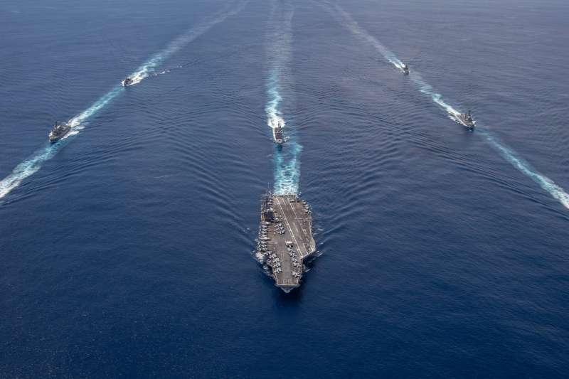 美軍尼米茲號航母打擊群。(美國海軍官網)