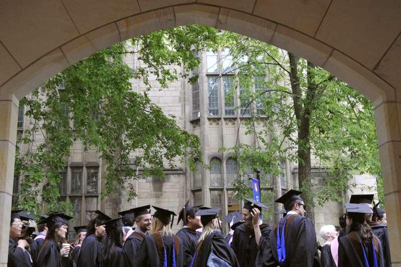耶魯大學畢業生。(AP)
