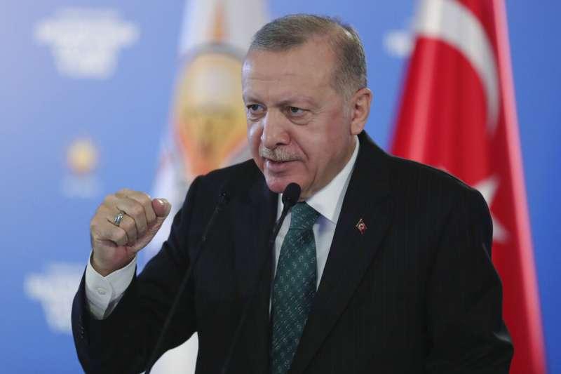 土耳其總統艾爾多安(Recep Tayyip Erdogan)。(美聯社)