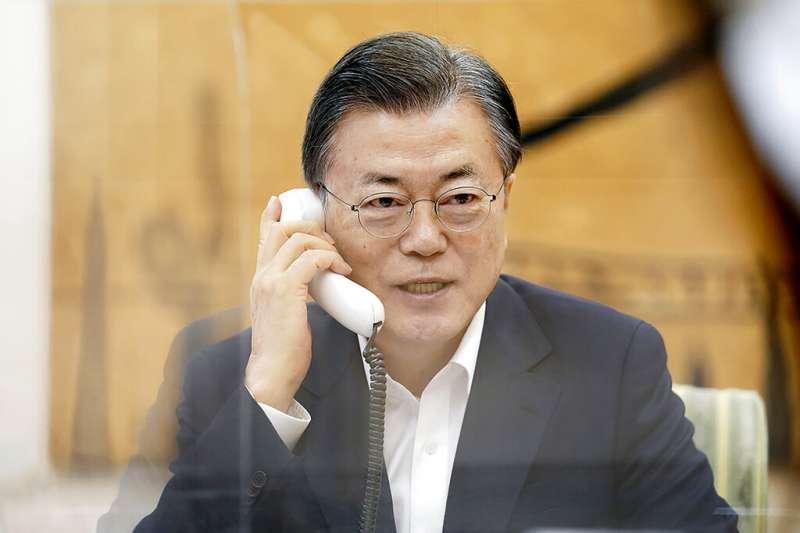南韓總統文在寅。(資料照,美聯社)