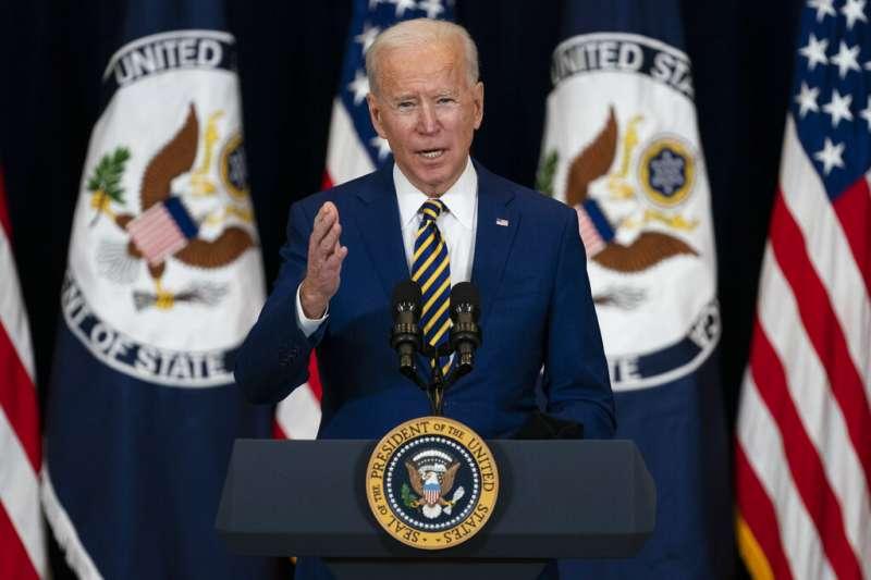 美國總統拜登發表外交政策演說。(美聯社)