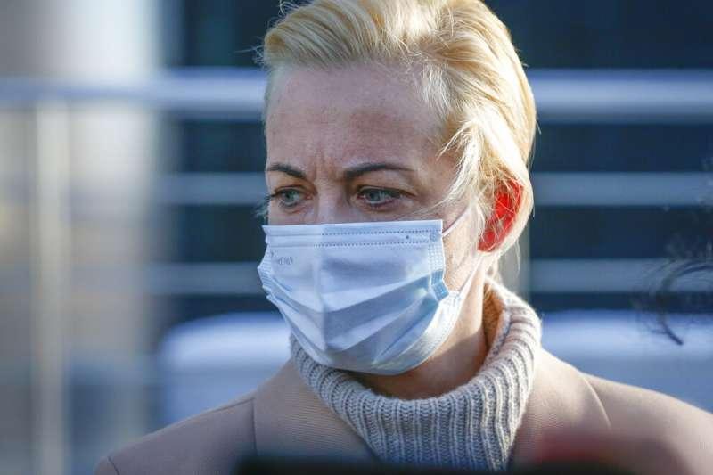 俄羅斯反對派領導人納瓦爾尼的妻子尤利婭。(AP)