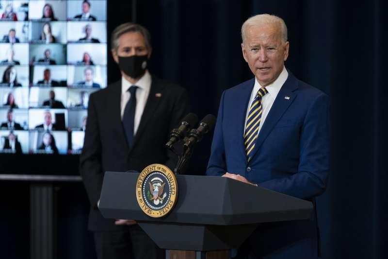 美國總統拜登與國務卿布林肯(AP)