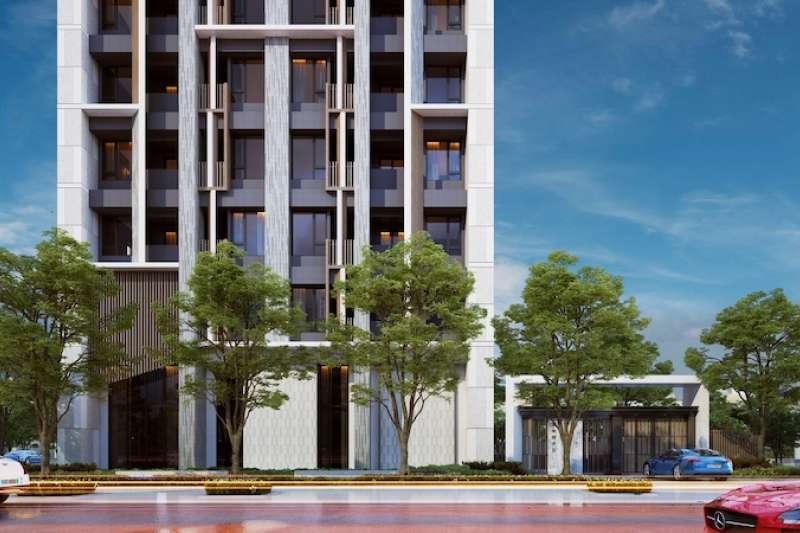 南港LaLaport商場今年完工,經貿園區生活機能一步到位!新美齊打造精品級小宅「心居」,開案二個月熱銷八成。(圖/業者提供)
