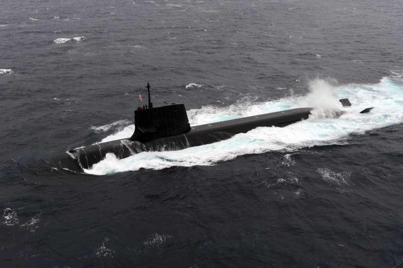 日本自衛隊的首艘蒼龍級潛艦「蒼龍號」。(海上自衛隊)