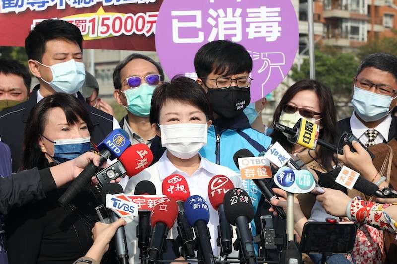 針對最近空品不佳問題,台中市長盧秀燕受訪時,說明市府因應作為。(圖/台中市政府提供)