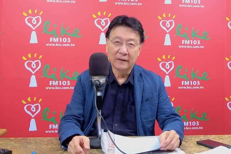 趙少康在自己的廣播節目「趙少康時間」上說,自己其實應該是爭取國民黨陣營的2024年總統大選初選。(翻攝自中廣直播).jpg