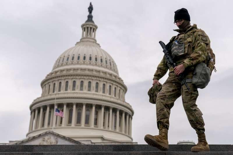 2021年2月10日,美國聯邦參議院審判前總統川普「煽動叛亂罪」(AP)