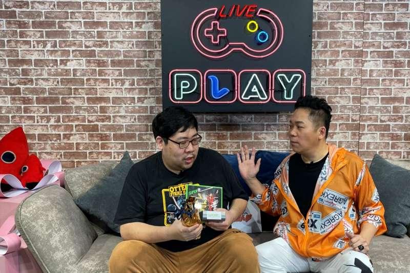 張家兄弟重回Twitch在國動號和PLAY官方號《玩咖會客室》雙直播,吸引超過9萬不重複觀眾上線收看。(圖/浪LIVE提供)