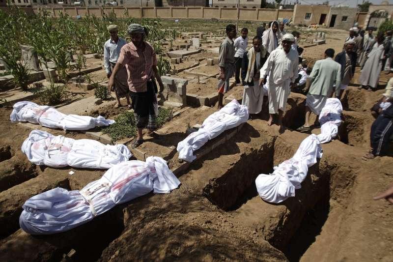 葉門內戰,首都沙那的萬人塚(AP)