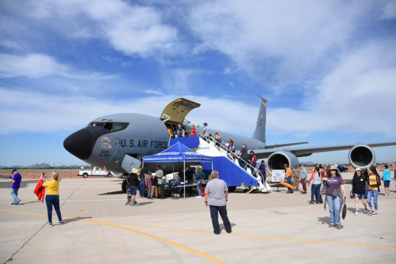亞利桑那州空中國民兵的KC-135R,來自以與中華民國友好的高華德參議員命名的高華德空中國民兵基地(許劍虹攝)