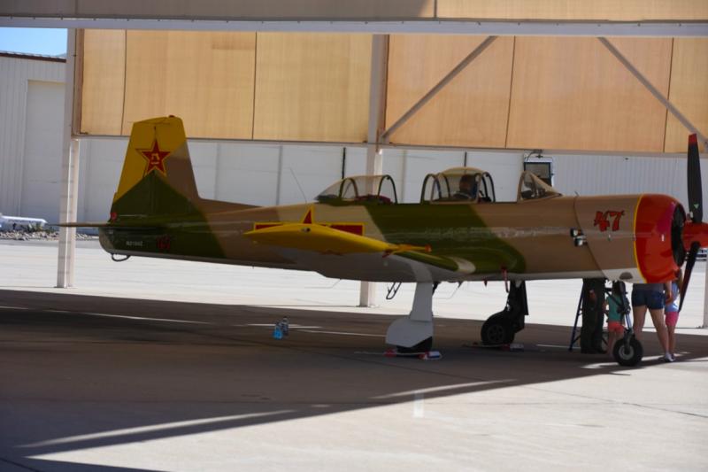 海德·朗的初教-6座機,光是鹿谷機場就有16架之多。(許劍虹攝)