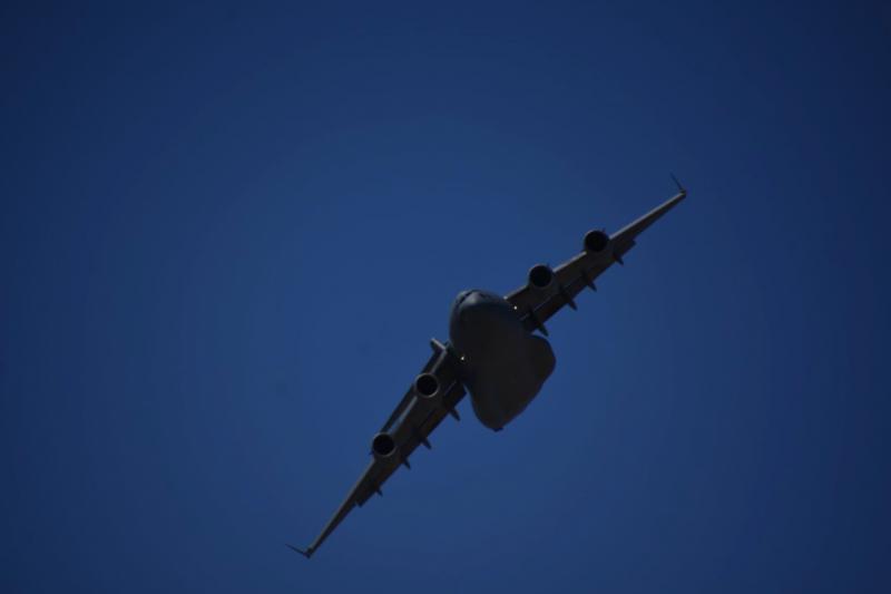 對於身陷敵陣的美軍將士而言,C-17的出現在提升士氣方面的表現絲毫不會輸給A-10。(許劍虹攝)