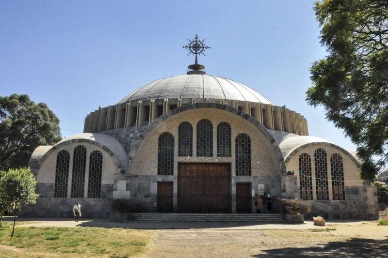 衣索比亞北部的阿克蘇姆市是衣索比亞正教的聖地,傳說藏有十誡的約櫃就藏在這裡。(AP)